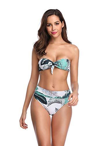 Top Tubo A Leaves Costume Da Bagno Alta Stampata Swimwear Con Sexy Syt Vita Intero Fascia Bikini naHqYRxw