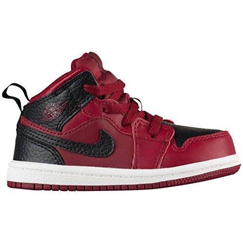 Price comparison product image Nike Jordan Mid 1 Team Red/Black-Summit White (TD) (7 M US Toddler)