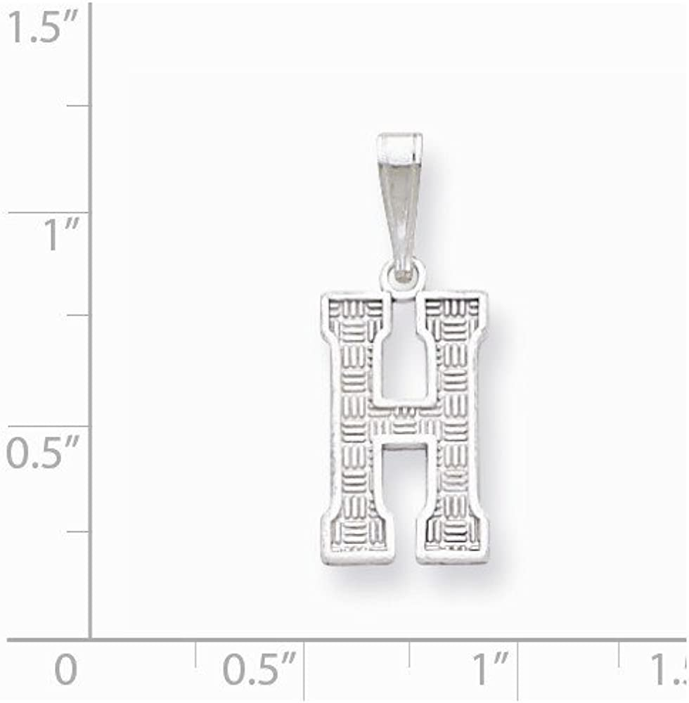 Sterling Silver Initial H Pendant QC2762H