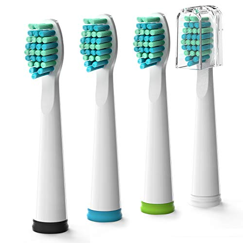 Gloridea Electric Toothbrush Replacement Heads 4pcs/pack for Gloridea Electric Toothbrush 507, 508 Model Series, Soft Bristle Brush Head in White