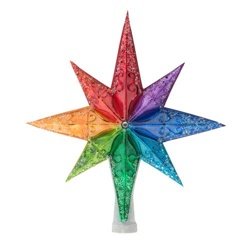 Christopher Radko Rainbow Stellar Finial Christmas Ornament