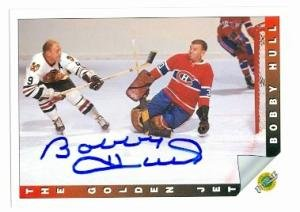 Autograph Warehouse 97159 Bobby Hull Autographed Hockey Card Chicago Blackhawks 1992 Ultimate No. -