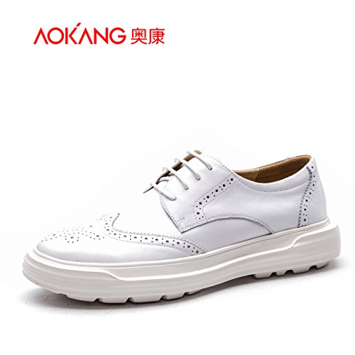 Aemember Scarpe Uomo durante la primavera e autunno scolpito piacere quotidiano spesso scarpe bianco ,42, bianco gioventù.