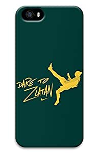 iPhone 5S Case, 5S 3D Cases Dare To Zlatan Fun White Dual-layer TPU Rubber Protective Carrying Cover Case for iPhone 5/5S