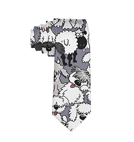 Old English Sheepdogs Men Necktie Fashion Tie For Suit College Festival -