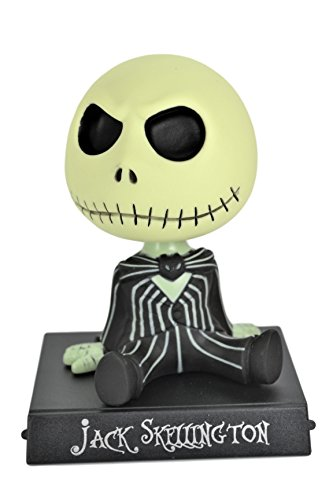 (Jack Skellington Disney Nightmare Before Christmas PVC Bobble Head Figure Car Office Home Accessories Ultra Detail Doll . (Black))