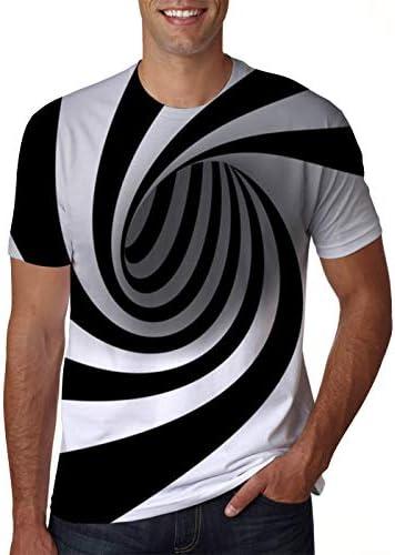 uideazone Men Women Short Sleeve T-Shirt Casual 3-d Creative Print Crewneck Graphic Tees