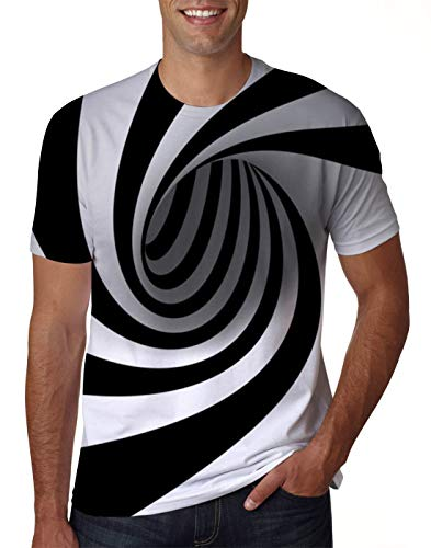 Uideazone 3D Printed Short Sleeve Tshirt for Men Summer Beach Holiday Shirt