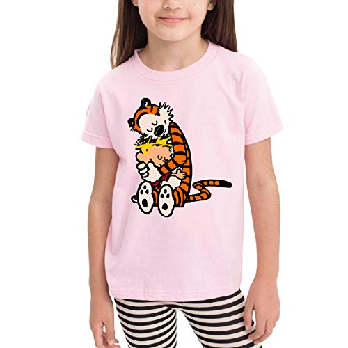 (PSnsnX Calvin and Hobbes Doctor with Who Kid Short Sleeve Crew Neck Youth & Adult Tees)