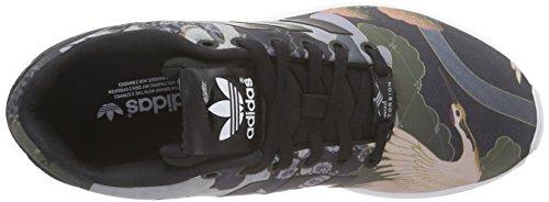 adidas Mujer Baja ZX Zapatilla Ftwr Flux White Black Black Core Negro Core 4Or4T