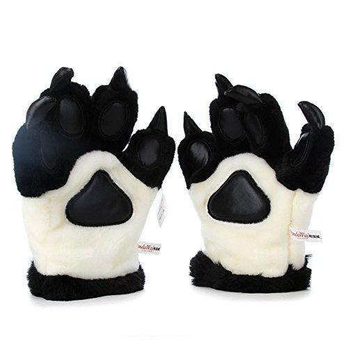 Panda Paws Halloween (Halloween Cosplay Panda Paws Plush Gloves Plush)