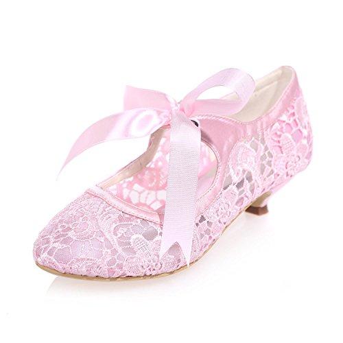 L@YC Damen Hochzeitsschuhe Lace Blumen / Spitze Party Night 9001-06 & More VerfüGbare Farben Pink