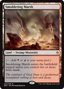 Magic: the Gathering - Smoldering Marsh (247/274) - Battle for Zendikar - Foil