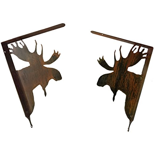 7055 Inc. Rustic Elements Shelf Brackets-Moose, Natural Rust Patina, 2 Piece Review