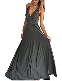 Women Elegant Multi-Way Wrap Convertible Long Party Maxi Dress For All Special Occasions