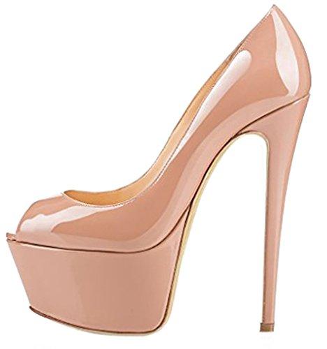 de 16CM Casit De vestir Tacón Aguja Rosa Calaier Mujer Ponerse Sandalias Sintético Zapatos Xzq1SZ