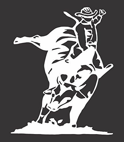 Barking Sand Designs Bull Rider - Die Cut Vinyl Window Decal/Sticker for Car/Truck 5.5