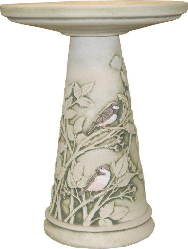 Burley Clay Chickadee Bird Bath Set