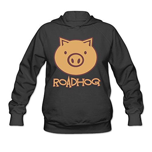 [Overwatch Women's Roadhog Hoodies Sweater Size XL Black] (Ghana Costume For Boys)