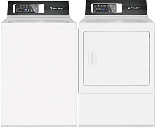 Speed Queen White Laundry Pair with TR7000WN 26″ Top Load Washer and DR7000WG 27″ Gas Dryer