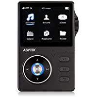 AGPTEK H01 High Resolution Lossless Music Player, 2.4 Inch HD Display, Supports up to 64GB, Black