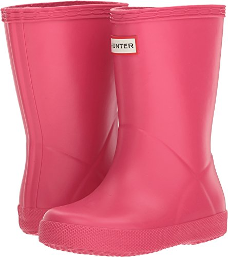 Hunter Kids Unisex Original Kids' First Classic Rain Boot (Toddler/Little Kid) Bright Pink 9 M US Toddler M -
