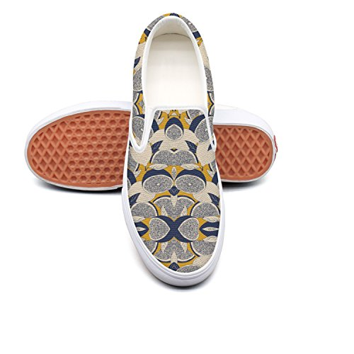 KKLDFD Blue Yellow Boutique Orange Pear Portail Womens Canvas Casual Sneakers