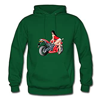Women Hoodies Motorcycle Designed For Styling Hoodies-green X-large
