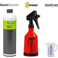 Koch Chemie Green Star Nettoyant universel 1 litre + bouteille de vaporisation Kwazar 360°, 0,5 litre avec joint Viton, adapté pour Koch Chemie Green Star