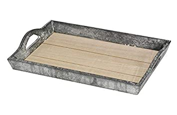 1x Deko Holz Tablett Holztablett Dekotablett Serviertablett Frühstückstablett