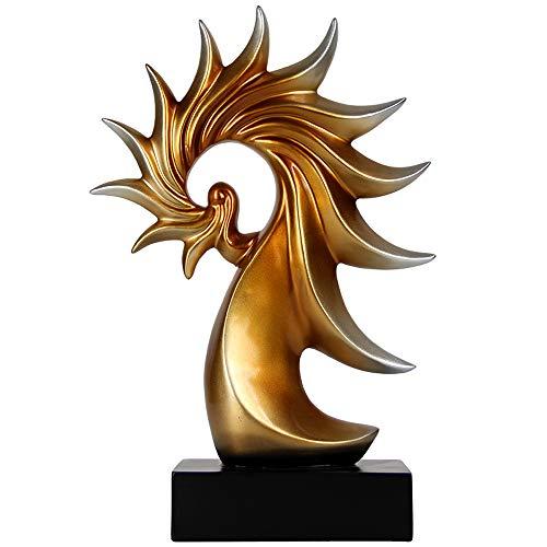 DQMSB Fénix Abstracto Europeo Ornamentos Decorativos hogar salón Escritorio multifunción péndulo Decorativo Bronce,...