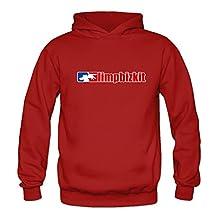 Crystal Men's Limp Bizkit Long Sleeve Sweatshirt Pullover Hoodie Red US Size XL