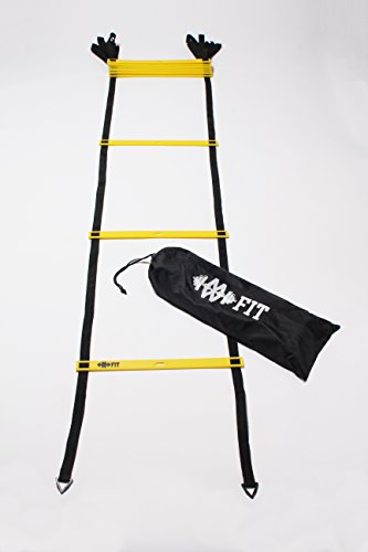 MWFit 12 Rung Agility Ladder (Yellow) by MWFit
