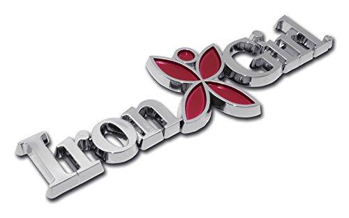 (Iron Girl Triathlon Chrome Auto Emblem )