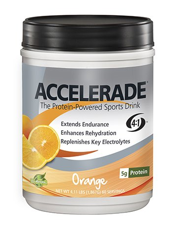 PacificHealth Accelerade, All Natural Sport Hydration Drink Mix with Protein, Carbs, and Electrolytes for Superior Energy Replenishment - Net Wt. 2.06 lb., 30 serving (Orange)