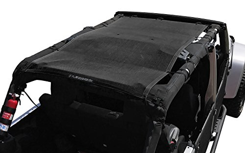 - Alien Sunshade Jeep Wrangler Mesh Top Cover with 10 Year Warranty Provides UV Protection for Your 4-Door JKU (2007-2017) Original Black