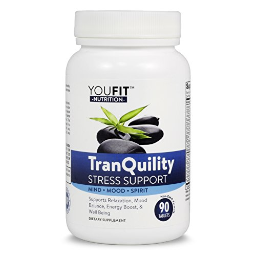 Tranquility Anxiety   Stress Relief Supplements   Calming Herbal Blend   B Vitamins Complex   Feel Positive   Focused With A Relaxed Mind And Body   Serotonin Support   Mood Booster Nutrition