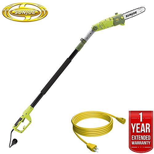 Fantastic Deal! Sun Joe Saw Joe 10-Inch 8-Amp Multi-Angle Telescopic Electric Pole Chain Saw (SWJ803...
