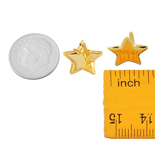Souarts Gold Color Star Mini Brads for DIY Scrapbooking Embellishment Pack of 50pcs by Souarts (Image #2)