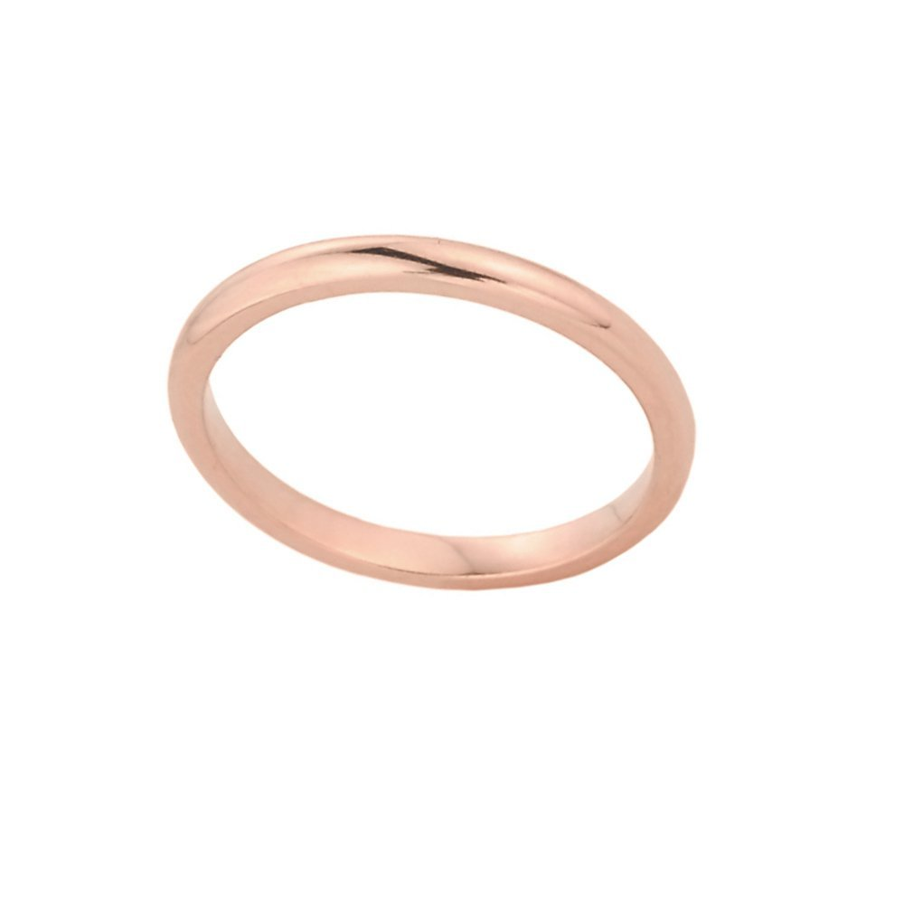 Stackable 10k Rose Gold Sizable Plain Toe Ring, Size 3.5 Claddagh Gold RT864RG