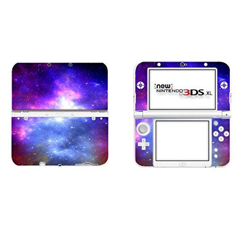 Protective Vinyl Skin Sticker Cover Wrap for New Nintendo 3DS XL / LL Blue Purple Nebula