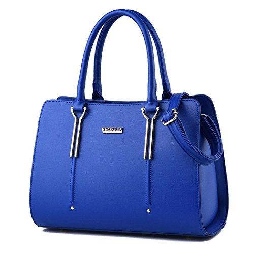 Ryse Womens Fashionable Classic Retro Exquisite Elegance Handbag Shoulder Bag(Blue)