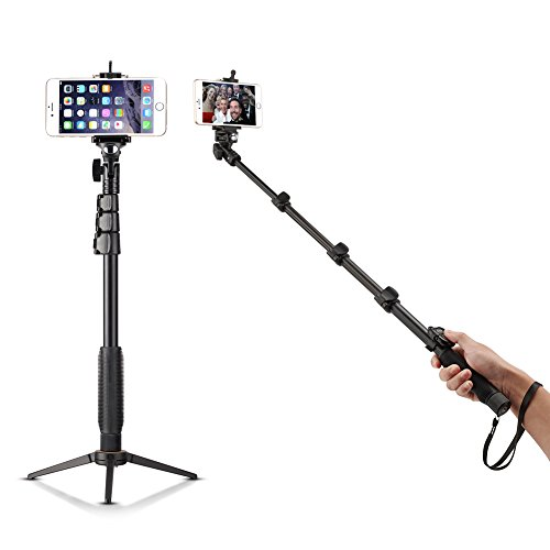 Bluetooth Selfie Stick with Tripod Stand Accmor(TM) 18-50 Self-Portrait Extendable Monopod with Bluetooth Remote Shutter for iOS & Android Phone. - Supports Cell Phone Digital Camera and POV. - Compatible with (Smartphone) Apple iPhone 6 6 Plus 5S 5...