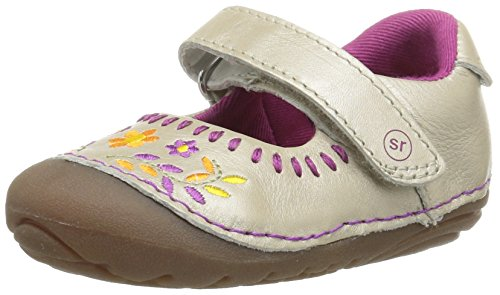 Stride Rite Baby Girl (Stride Rite Soft Motion Atley Mary Jane, Champagne, 5 W US Toddler)