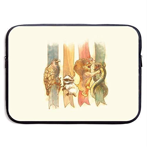 Eagle Otter Lion Snake 13-15 Inch Laptop Sleeve Bag Portable Dual Zipper Case Cover Pouch Holder Pocket Tablet Bag,Water - Laptop Otter Case