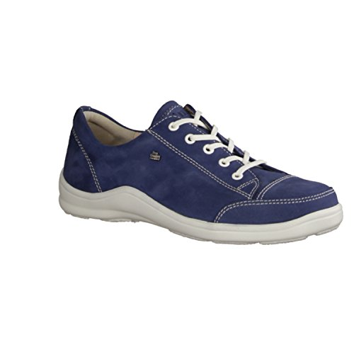 Finn Comfort, 2743-007356, Soho, donna Comfort lacci scarpa, Blu/elettrico