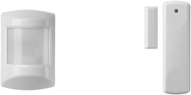 Z-wave Plus Motion Detector, Easy to install with PET Immunity, White (PIRZWAVE2.5-ECO) &Plus Rare Earth Magnets Door & Window Sensor, White & Brown (DWZWAVE2.5-ECO)