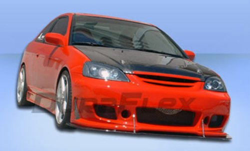 Duraflex Replacement for 2001-2003 Honda Civic 2dr / 4DR B-2 Front Bumper Cover - 1 Piece