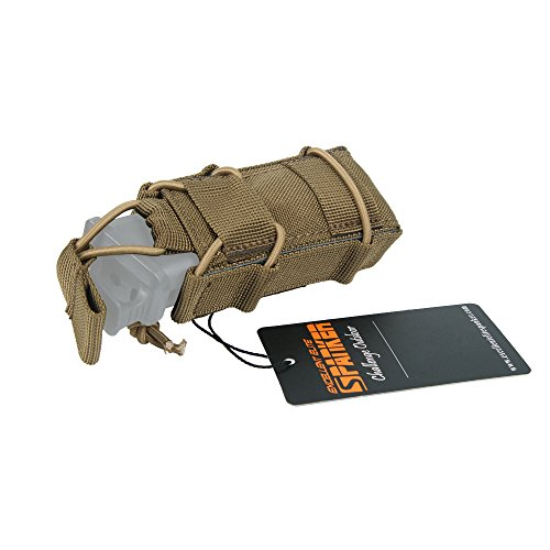 EXCELLENT ELITE SPANKER Tactical Flashlight Holder Open Top Single Magazine Adjustable Mag Pouch(Coyote Brown)
