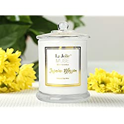 LA JOLIE MUSE Jasmine Scented Candle Gift Natural